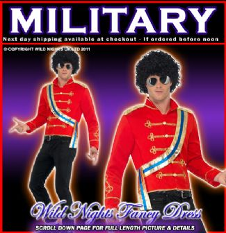 FANCY DRESS COSTUME # MENS MICHAEL JACKSON Military Jacket Adult Medium RRP £39.95